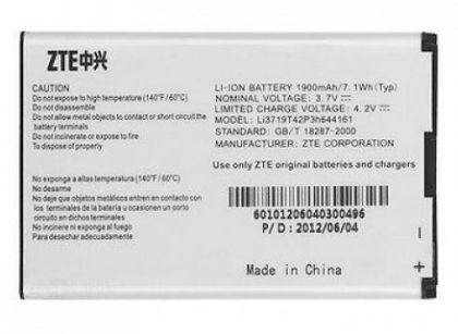 Аккумулятор ZTE Li3719t42p3h644161 (T82, V8000, WiFi router MF80) 1900mAh [Original]