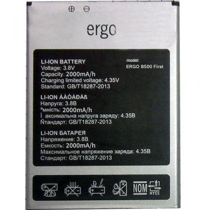 Аккумулятор Ergo B500 First [Original] 12 мес. гарантии