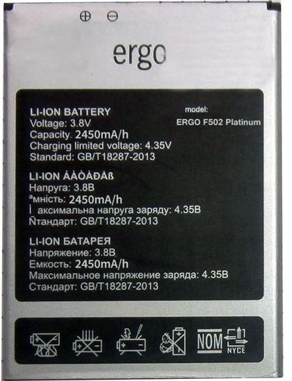 Аккумулятор Ergo F502 Platinum [Original] 12 мес. гарантии