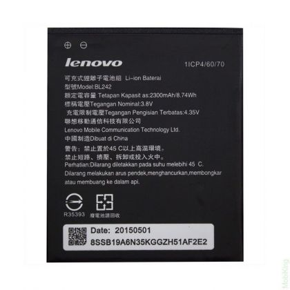 аккумулятор lenovo a6010, a6000, k3, k30, a2020 (bl242) [original]  - купить  аккумуляторы для lenovo  - mobenergy
