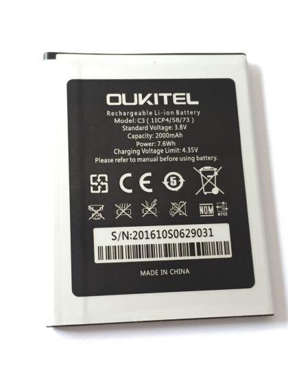 аккумулятор oukitel c3 / bravis a503 joy [original]  - купить  аккумуляторы для остальных брендов  - mobenergy