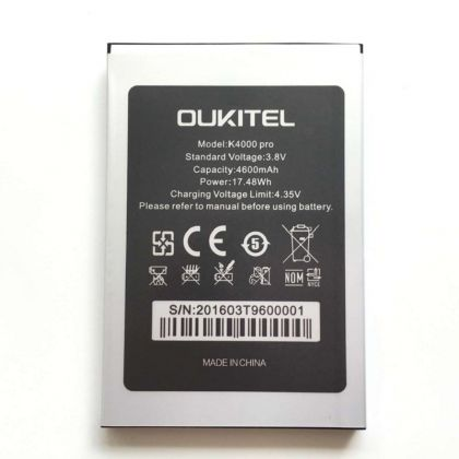 аккумулятор oukitel k4000 pro [original]  - купить  аккумуляторы для остальных брендов  - mobenergy