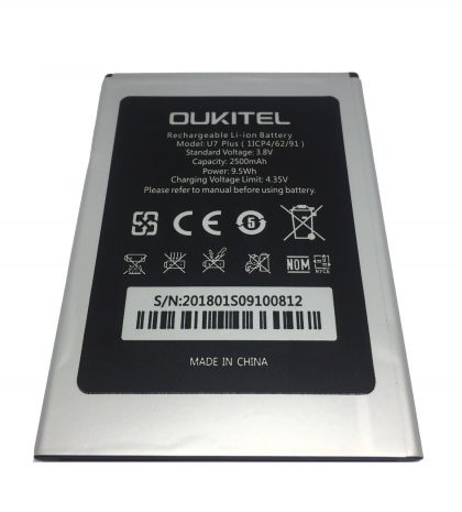 аккумулятор oukitel u7 plus/ u7 max [original]  - купить  аккумуляторы для остальных брендов  - mobenergy