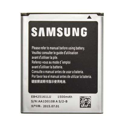 Аккумулятор Samsung S7562 Galaxy S Duos, I8160 Galaxy Ace 2, I8190 Galaxy S3 Mini и др. (EB425161LU, EB-BG313BBE, EB-F1M7FLU) 1500 mAh [Original]