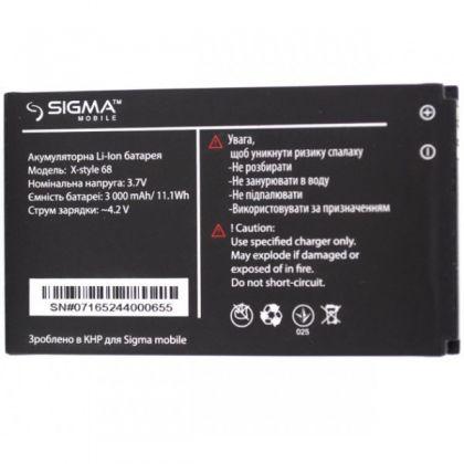 аккумулятор sigma x-style 68/x-treme 3sim [service_original]  - купить  аккумуляторы для остальных брендов  - mobenergy