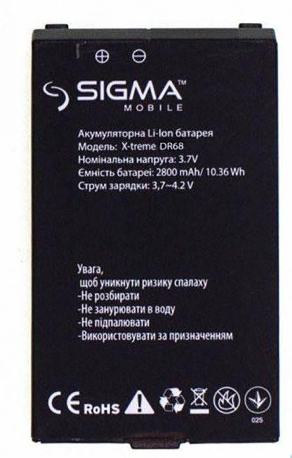 аккумулятор sigma x-treme dr68 [original]  - купить  аккумуляторы для остальных брендов  - mobenergy