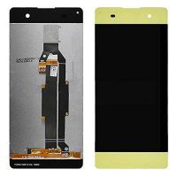 Дисплей (LCD) Sony F3111 Xperia XA/ F3112/ F3113/ F3115/ F3116 с сенсором золотой оригинал