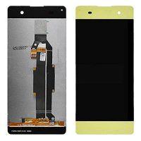 Дисплей (LCD) Sony F3111 Xperia XA/ F3112/ F3113/ F3115/ F3116 с сенсором золотой + рамка